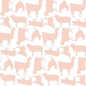 Poppie Cotton Barnyard - Pink -PC19019